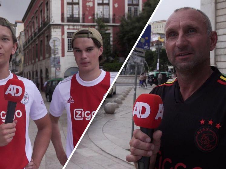 Meegereisde Ajax-fans in Lissabon: 'Eindelijk mogen we weer'