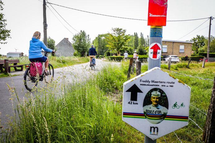 Freddy Maertens is het gezicht van een fietsroute door Middelkerke.