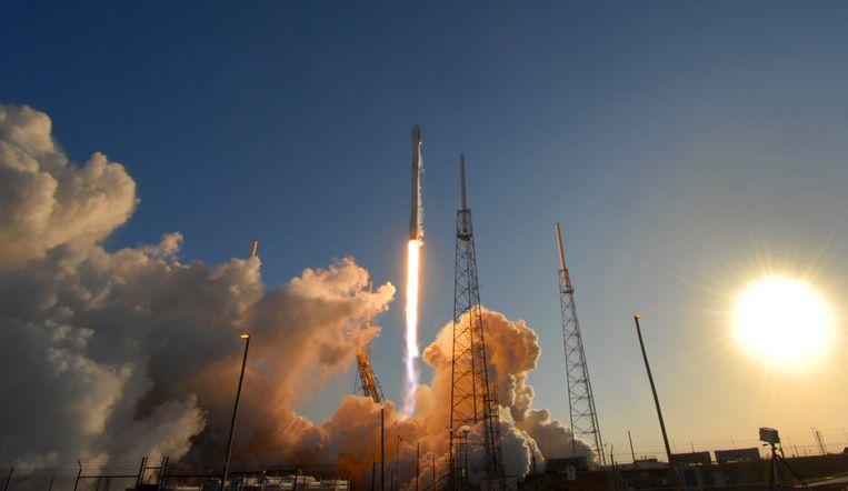 Satelliet Tess wordt gelanceerd vanaf Cape Canaveral, Florida, 18 april. Beeld Photo News