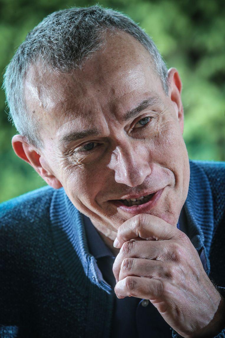 Frank Vandenbroucke doceert in Nederland en Vlaanderen: 'Als je wilt dat het Nederlands een rol blijft spelen in Europa, dan moet je ervoor zorgen dat het zich als cultuurtaal en als wetenschappelijke taal verder ontwikkelt.' Beeld Photo News