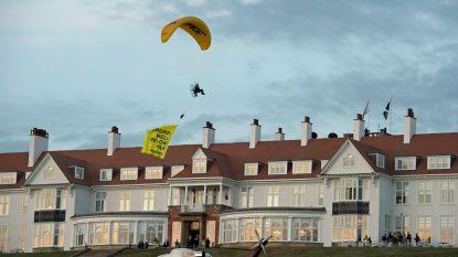 Greenpeace-activist gearresteerd die over Trumps golfresort vloog