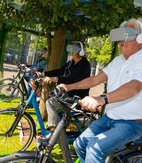 In de Randstad door Gelderland fietsen, dat kan dankzij een VR-bril