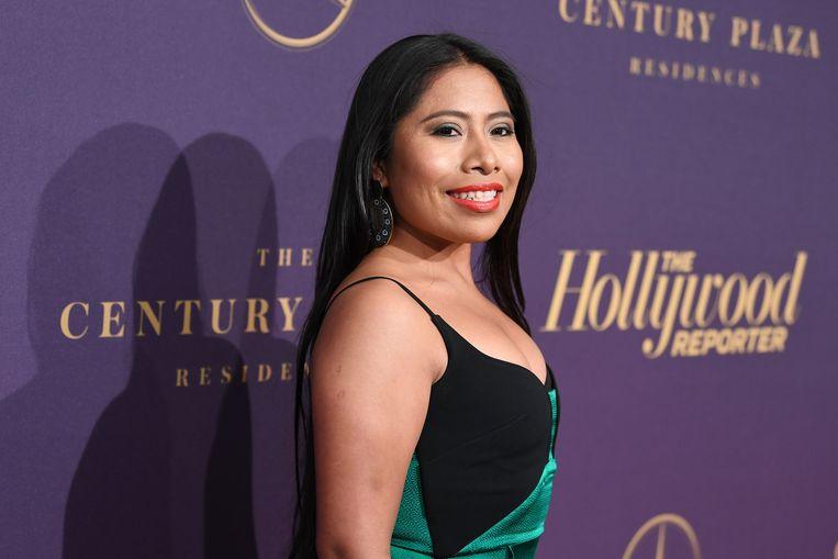 Yalitza Aparicio werd in geen tijd een ster dankzij haar rol in 'Roma'.  Beeld AFP