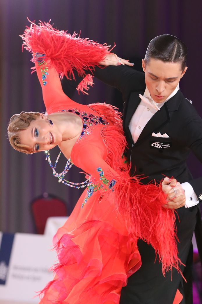 Jordan Koene met haar danspartner Andrius Sleivys