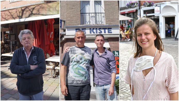 Ronny Decock, Geert en Dieter Janssens en Lieze Baert openen sowieso hun terrassen op 8 mei.