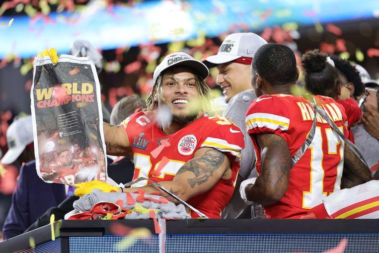Tyrann Mathieu van de Kansas City Chiefs. Beeld AFP