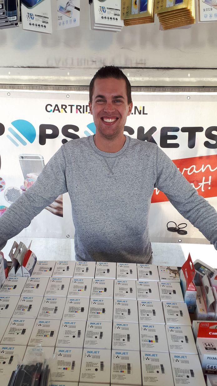 Peter Reudink nam eerder het initiatief voor een actie in Haaksbergen om als non-food ondernemers weer hun kraam op te kunnen slaan.
