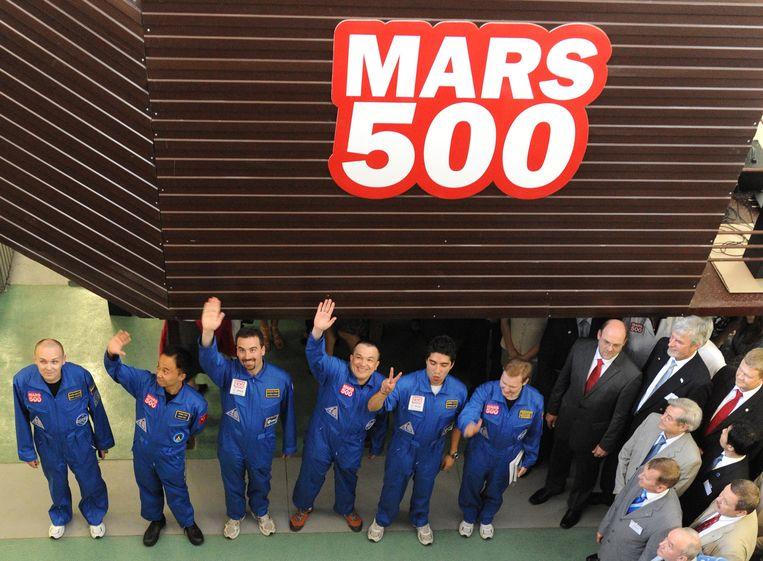 De leden van de Mars 500-crew Beeld AFP