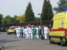 Zorgpersoneel ZNA Middelheim houdt protestactie tegen bewonersparkeren