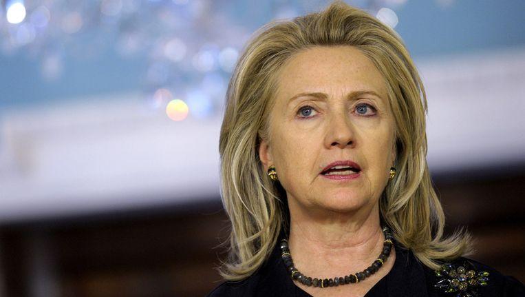 Minister Hillary Clinton van Buitenlandse Zaken. Beeld ap
