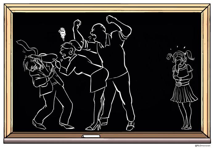 Illustratie Ruben Oppenheimer Gedragsregels ouderen op school