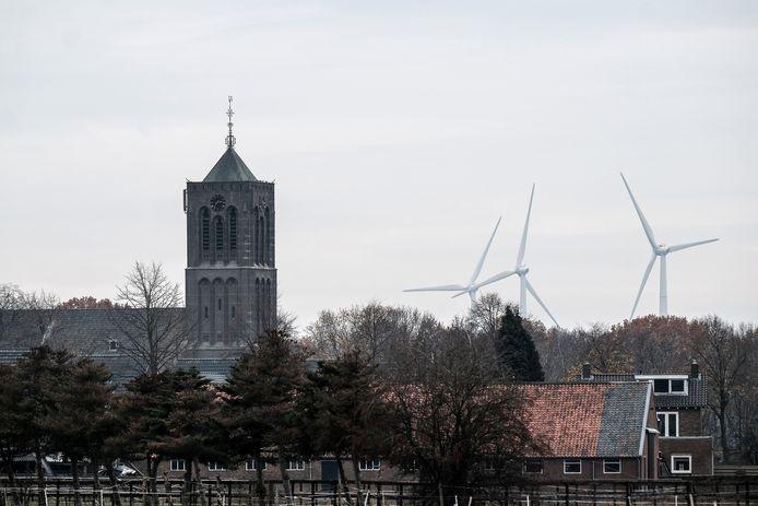 Het windmolenpark ter hoogte van Azewijn richting Netterden.  Deze locatie wordt ook in het witte vlekkenplan van de gemeente Montferland aangemerkt als mogelijke plek waar nieuwe windmolens kunnen komen.