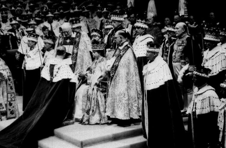 De kroning van koningin Elizabeth in 1953 Beeld epa
