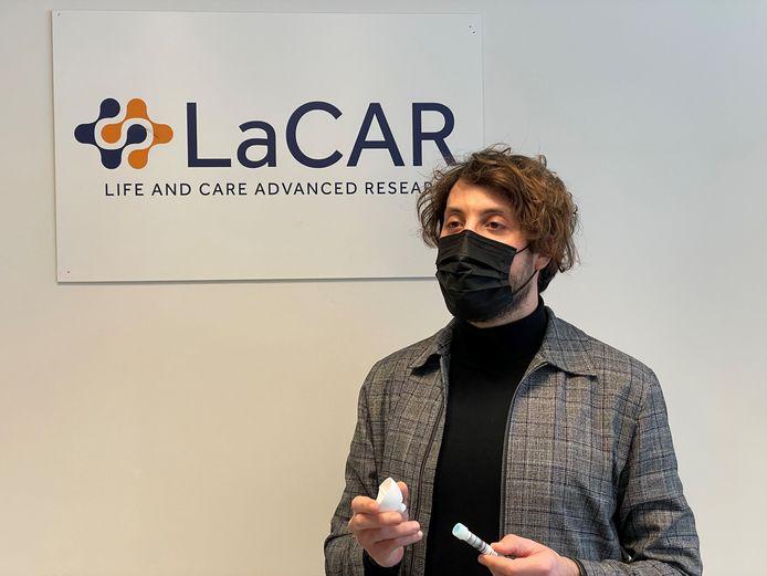 Malik Bessad est en charge du projet Covid au sein de la société liégeoise LaCAR.