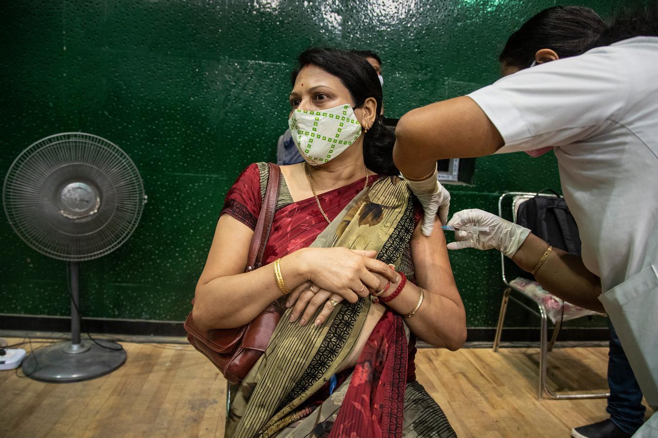 Vaccination à Gauhati, Inde, 22 avril