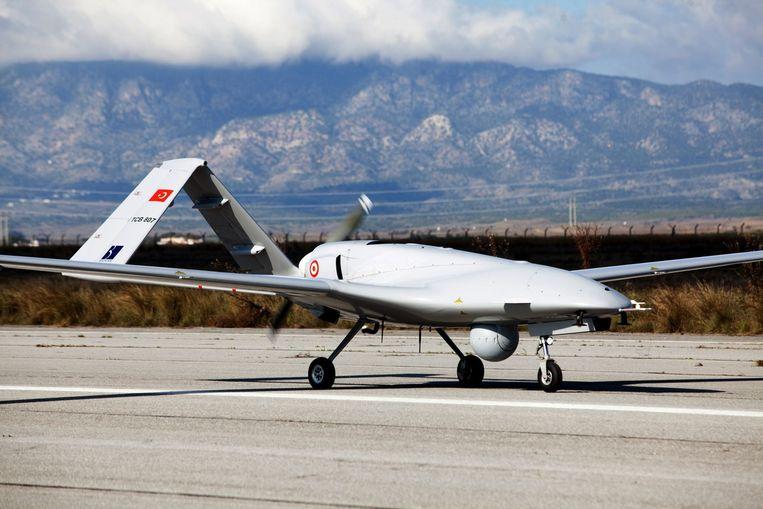 Een Turkse Bayraktar-drone. Beeld