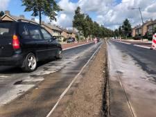 Laatste loodjes toegangsweg Uden: betonnen middenberm en putten