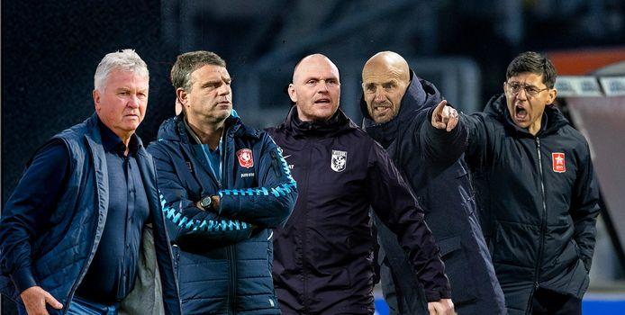 Guus Hiddink, Andries Ulderink, Joseph Oosting, Mitchel van der Gaag en Darije Kalezic.