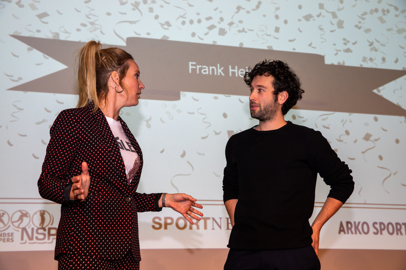 Frank Heinen met Hélène Hendriks.