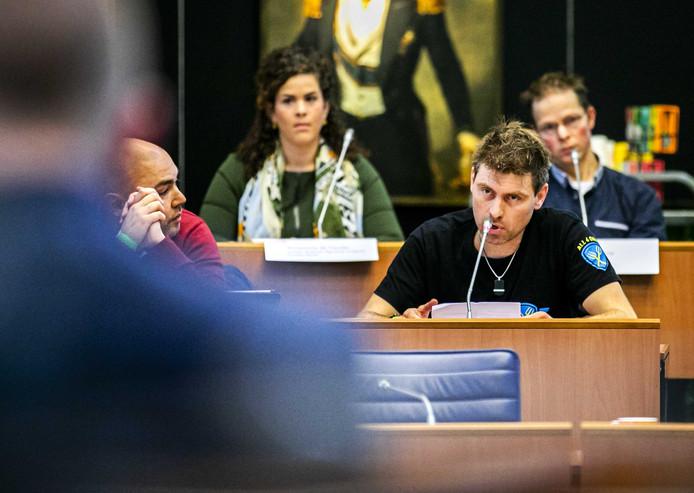 Mark van den Oever tijdens een eerdere toespraak in het provinciehuis.