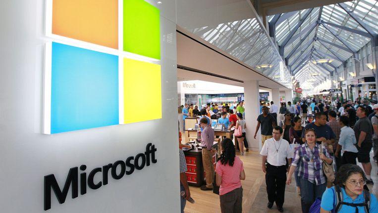 Amerikaanse bedrijven waaronder Microsoft, Apple en Nike betaalden in 2010 volgens een nieuwe studie slechts 12,6 procent belastingen. Beeld AP
