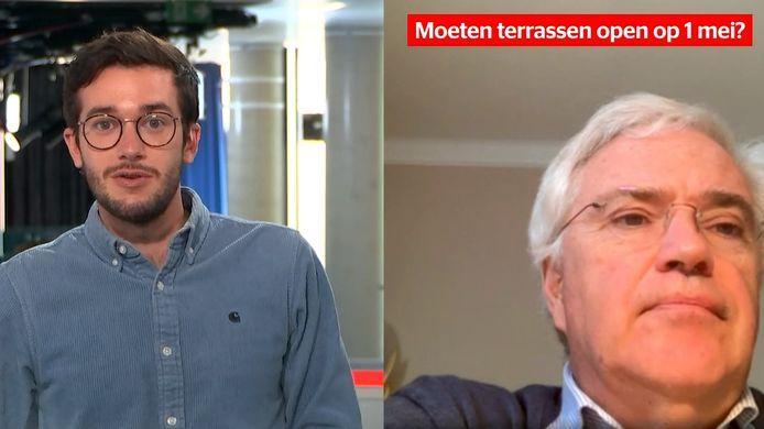 De West-Vlaamse gouverneur Carl Decaluwé bij HLN LIVE.