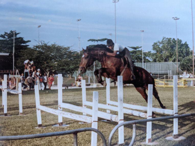 Chris Polanen in Suriname. Beeld