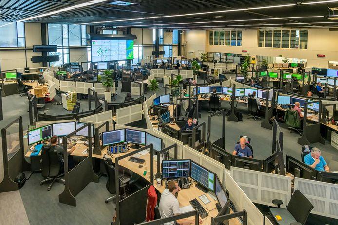 Operationeel Controlecentrum Rail (OCCR) in Utrecht.