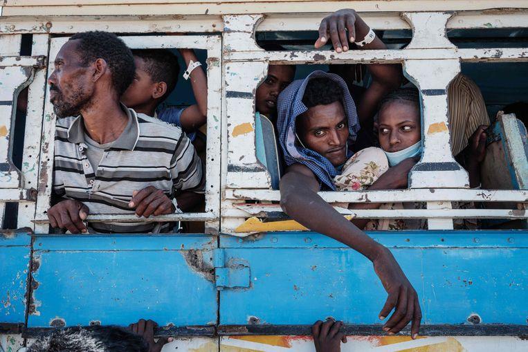 Vluchtelingen uit Tigray. Beeld AFP