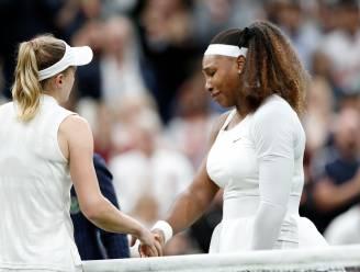 WIMBLEDON. Serena Williams geeft in eerste ronde geblesseerd op, Amerikaanse verlaat in tranen het veld
