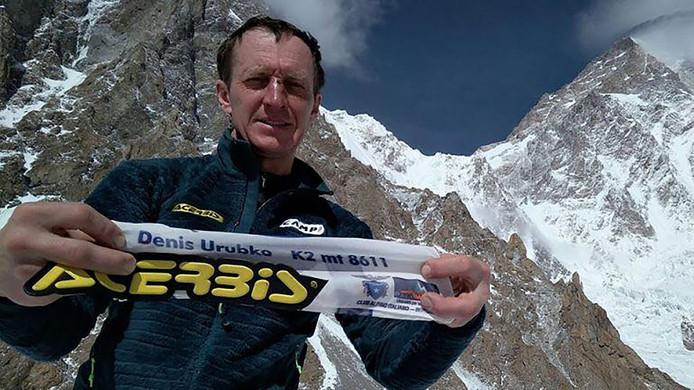Klimmer Denis Urubko vlak voor zijn vertrek uit het team.