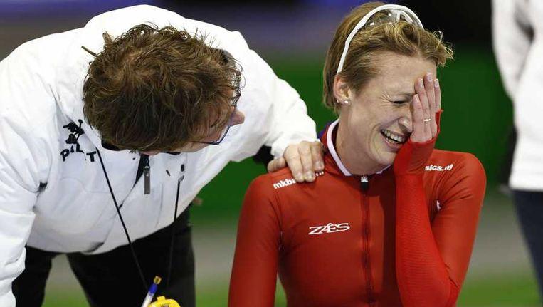Carien Kleibeuker zorgde tijdens het OKT voor de grootste verrassing door zich te plaatsen voor de 5000 meter op de Spelen.. Beeld anp