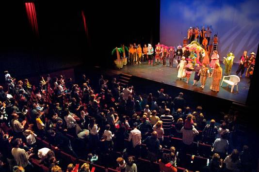 Het theater van de Lindernberg wordt onder meer gebruikt door middelbare scholen.