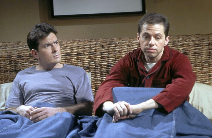 Charlie Sheen en Jon Cryer in 'Two and a Half Men'