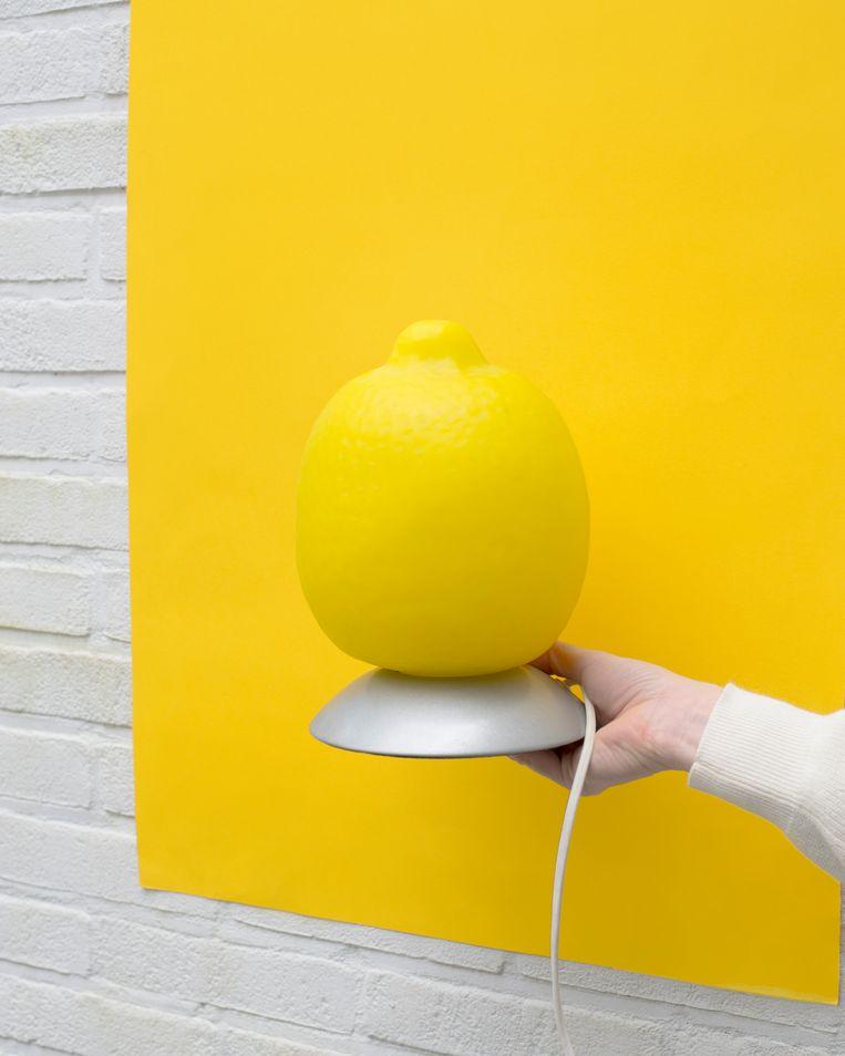 Lamp die Gidi kocht van BIEDEN BIJ ADVERTENTIE AUB.  Beeld Annabel Miedema