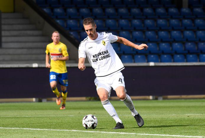Jef Van der Veken in het shirt van Lierse Kempenzonen, waar hij de voorbije drie seizoenen actief was.