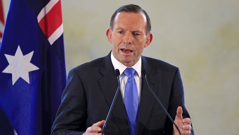 Australische premier Tony Abbott.