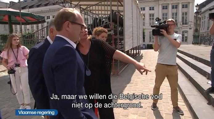 """""""Nous ne voulons pas ce chiffon belge en arrière-plan"""""""