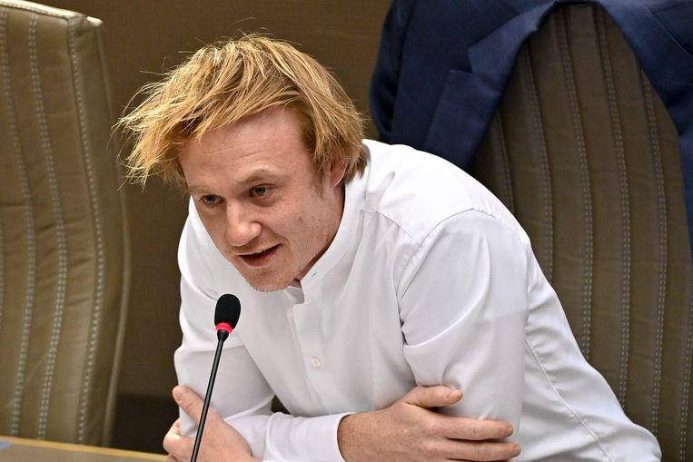 Vlaams Parlementslid Maxim Veys (Vooruit): 'Na grote uitspraken volgen best grote resultaten.' Beeld BELGA