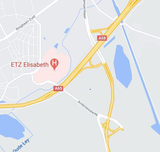 Ten noorden van de Ambrosiusweg moet het bedrijventerrein komen, in de driehoek met de A58/A65 en de weg Tilburg-Hilvarenbeek.