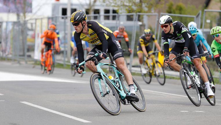 Lars Boom in actie tijdens de Amstel Gold Race Beeld Belga