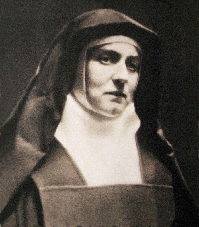 Edith Stein, na de oorlog heilig verklaard door de paus.