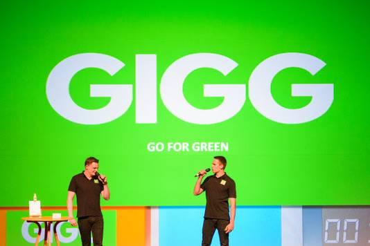 GIGG tijdens de pitch voor de jury van Student Company van het Jaar 2019.