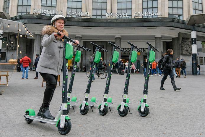 In Brussel zijn al elektrische deelsteps beschikbaar, maar in Nederland zijn aanbieders pas volgend jaar welkom.