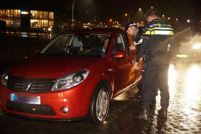 De Belgische activiste wordt aangehouden.