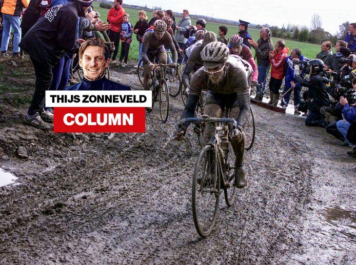 Servais Knaven tijdens Parijs-Roubaix.