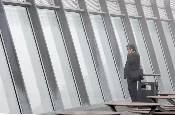 Mist op Eindhoven Airport. Archieffoto ter illustratie
