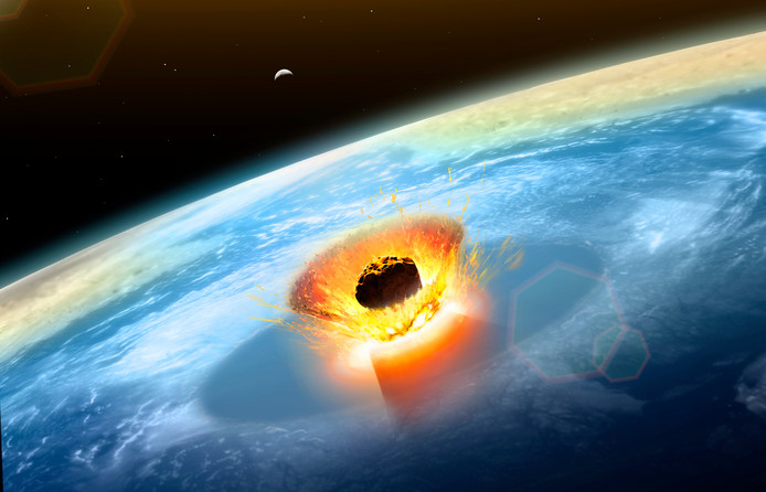 Un impact d'un énorme astéroïde, et non des éruptions volcaniques violentes, auraient causé la fin de l'ère des dinosaures