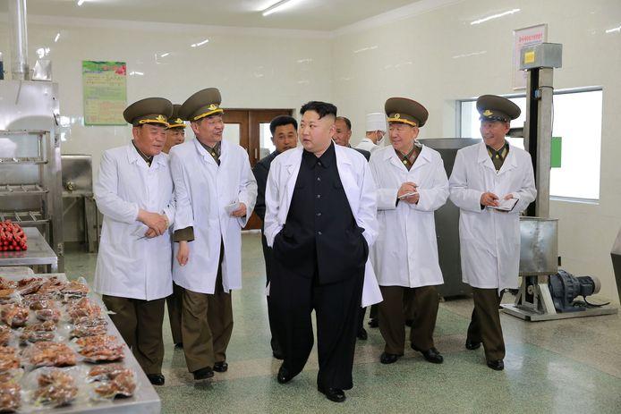 Archiefbeeld: Kim Jong-Un tijdens een werkbezoek