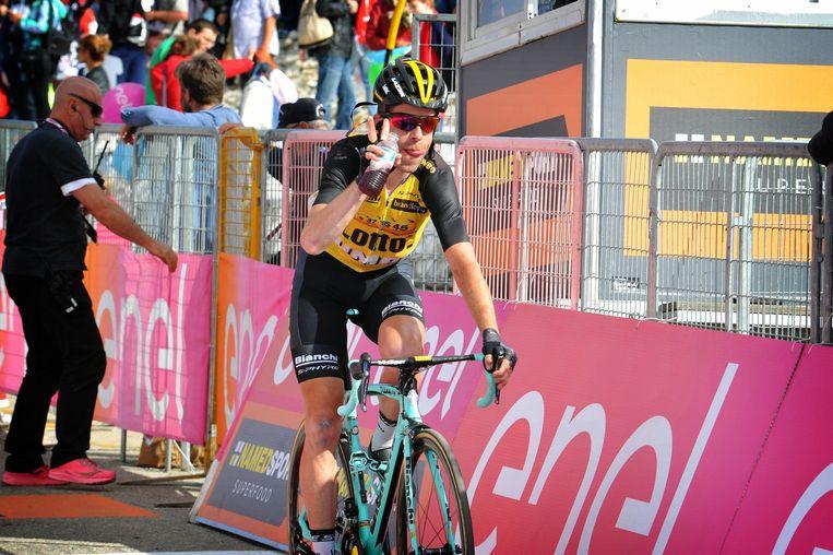 Tankink tijdens de Giro in 2017.  Beeld Photo News